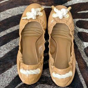 Tory Burch Shoes - Tory Burch Nude Ballet Flats w/ nautical rope knot
